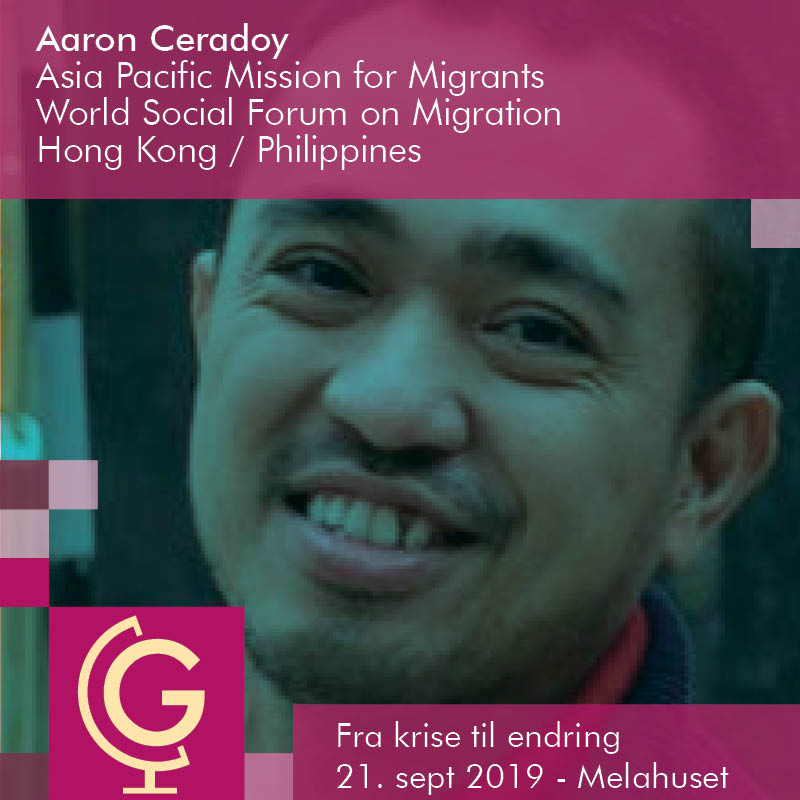 Aaron Ceradoy - Asia Pacific Mission for Migrants (APMM), Hong Kong