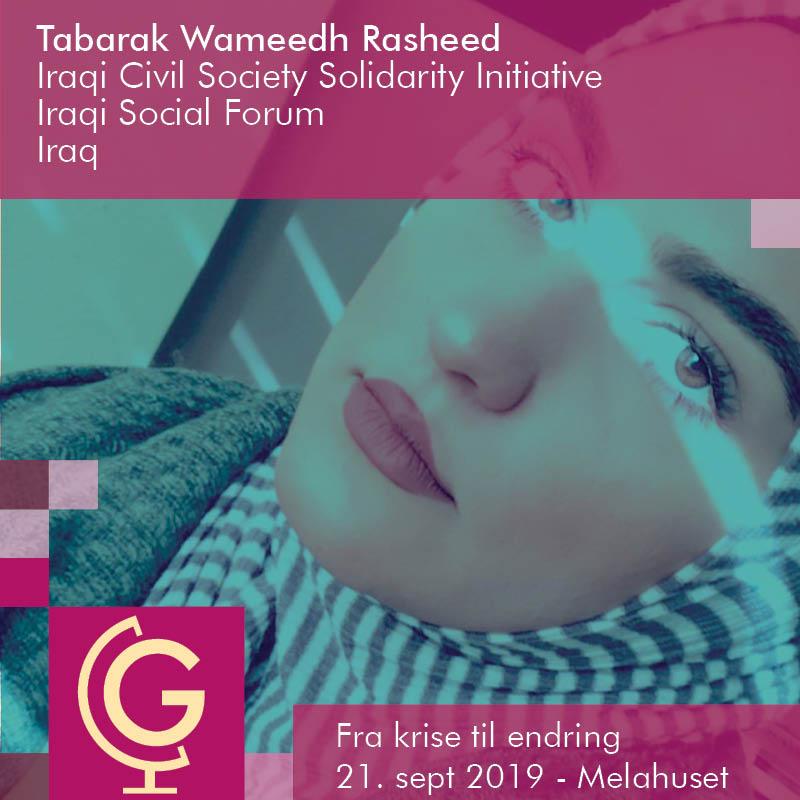 Tabarak Wameedh Rasheed - Iraqi Civil Society Solidarity Initiative (ICSSI), Iraqi Social Forum (ISF)