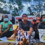 "The ""Collective of Women Victimised by Microfinance Debts"" during their 55-day non-violent protest in Hingurakgoda, Sri Lanka.  Credit:  Ishara Danasekara"